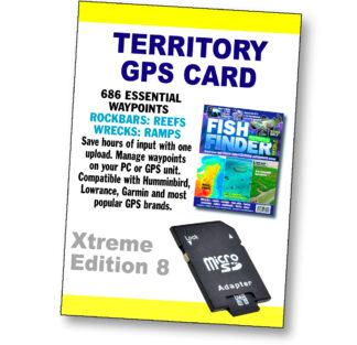NT Fishing Marks GPS Card
